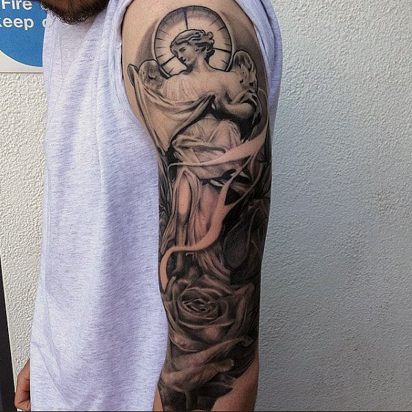 Best Religious Tattoo Guys Sleeves
