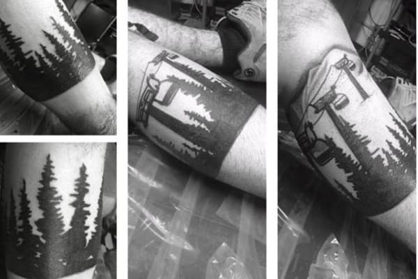 Best Snowboard Tattoo Male Forearms