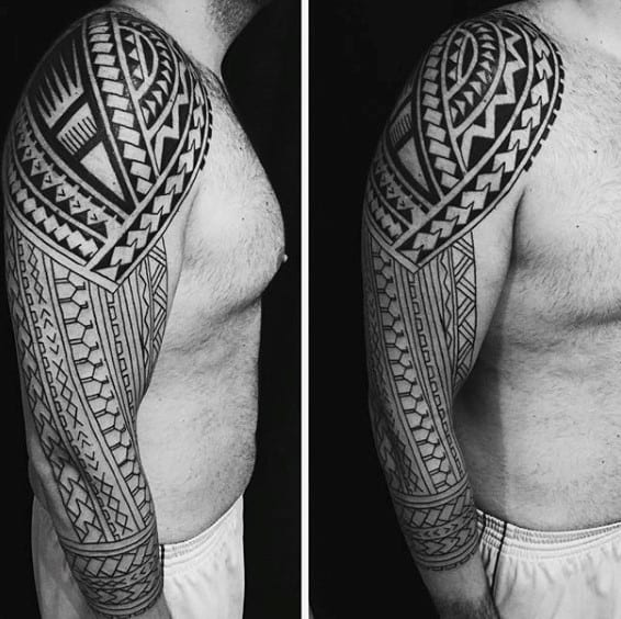 Best Tribal Guys Sleeve Tattoos