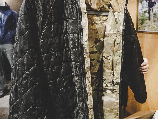 Beyond Clothing Black And Multicam Mid Layer Jacket