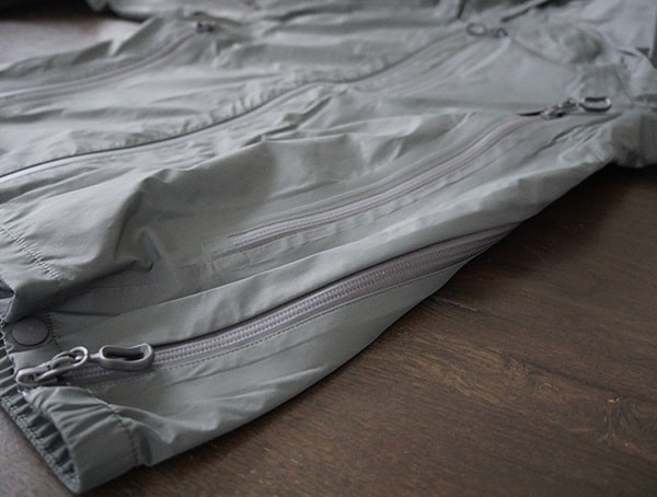 Beyond Clothing K6 Arx Rain Jacket For Men Side Vent Zipper Closed