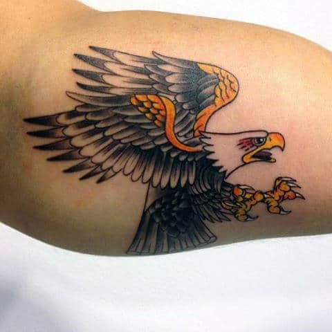 Bicep American Eagle Tattoo Designs For Men