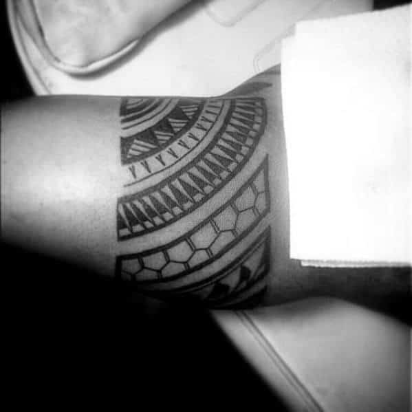 Bicep Armband Male Tribal Polynesian Tattoo Ideas