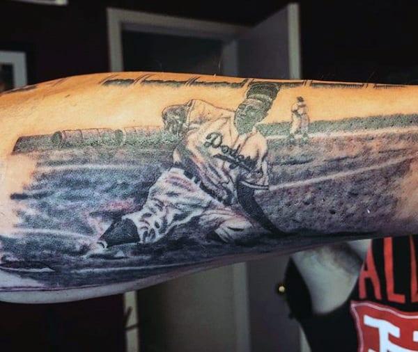 Bicep Baseball Slider Men's Tattoos