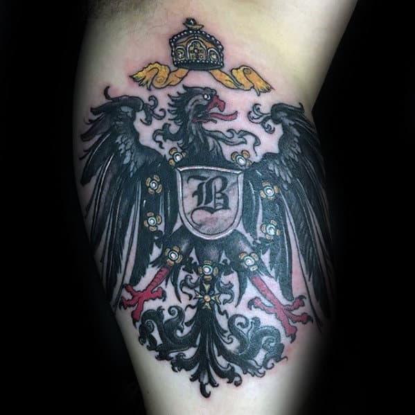 Bicep German Eagle Tattoo Ideas For Men