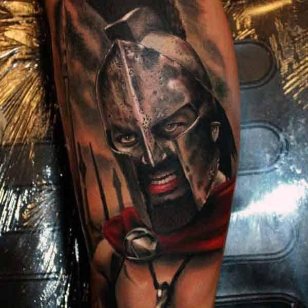 Bicep Greek Dark Age Spartan Tattoo For Men