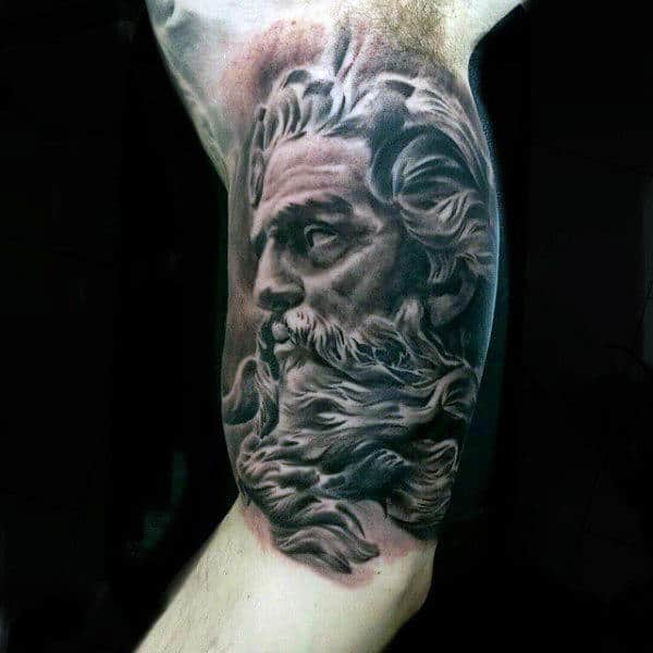 Bicep Greek Tattoo For Men