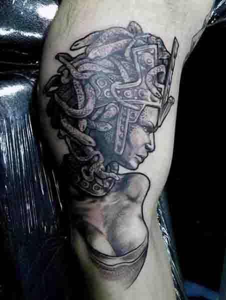 Bicep Guys Medusa Tattoos