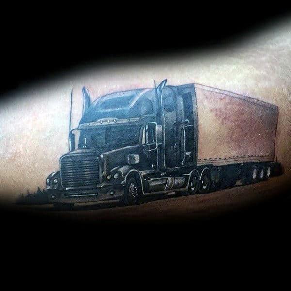 Bicep Guys Semi Truck Tattoos