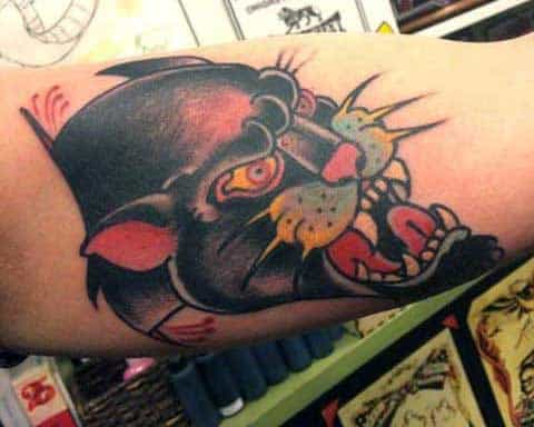 Bicep Guys Tattoo Of Panthers