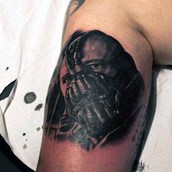 Bicep Inner Arm Male Bane Tattoos