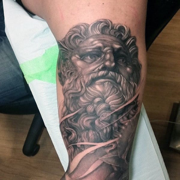 Bicep Male Mythological Zeus Tattoos