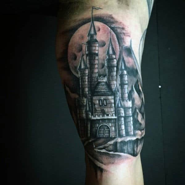 Bicep Medieval Castle Bicep Tattoos For Guys