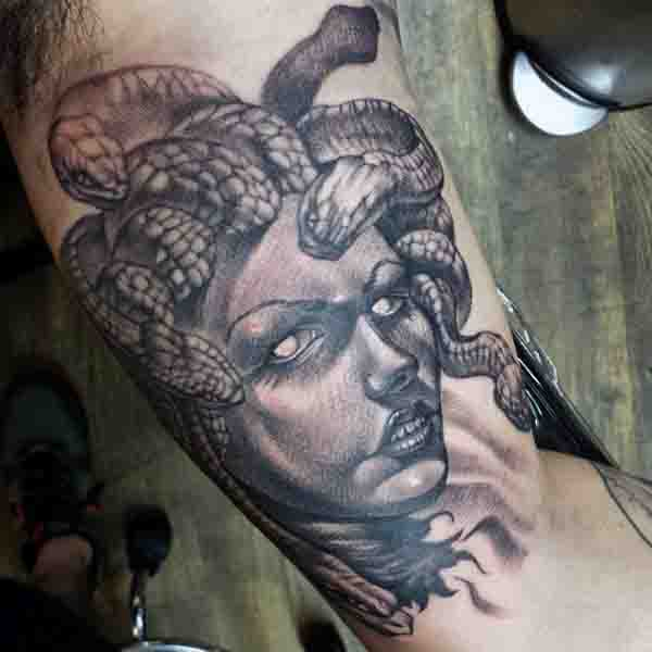 Bicep Medusa Tattoo Design Ideas For Men