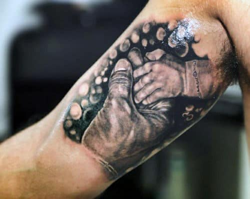 Top 50 best father son tattoos for men manly design ideas for Father son tattoos