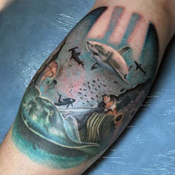 80 Water Tattoos For Men - Masculine Liquid Designs