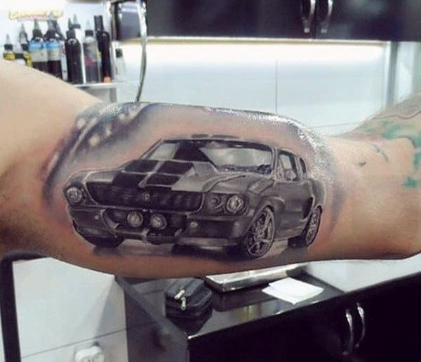 40 Mustang Tattoo Designs For Men Sports Car Ink Ideas