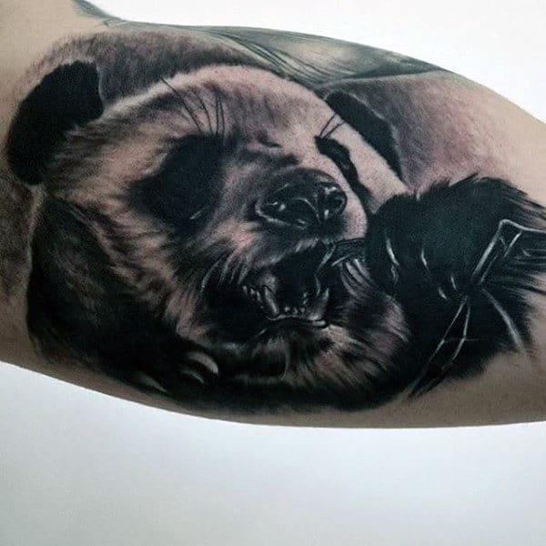 Bicep Panda Bear Guys Tattoo Ideas