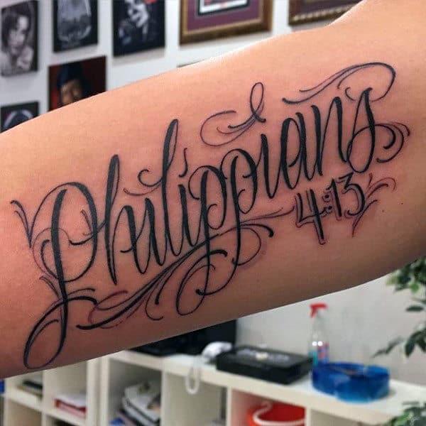 40 Philippians 4 13 Tattoo Designs For Men: HÌNH XĂM CHỮ ĐẸP NHẤT