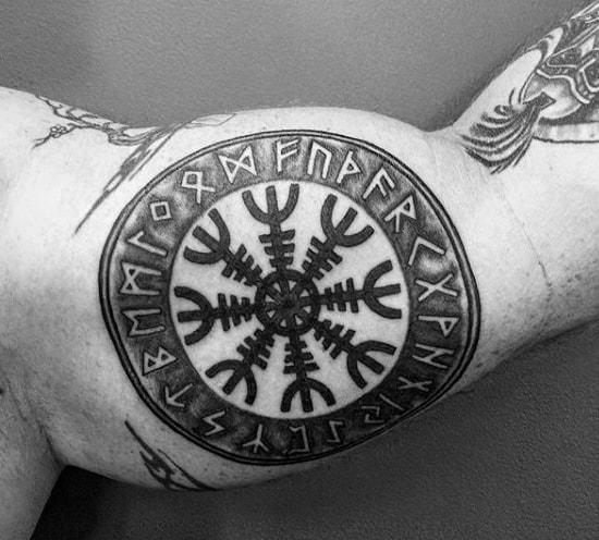 Bicep Rune Male Norse Tattoo Ideas