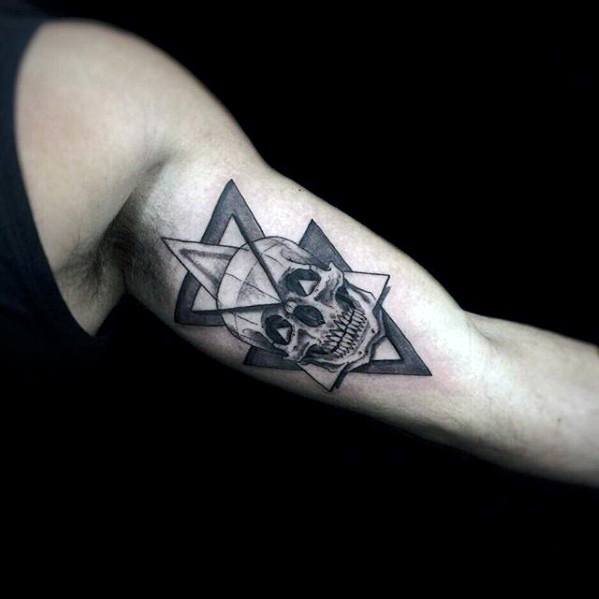 50 geometric arm tattoo designs for men bicep ink ideas. Black Bedroom Furniture Sets. Home Design Ideas