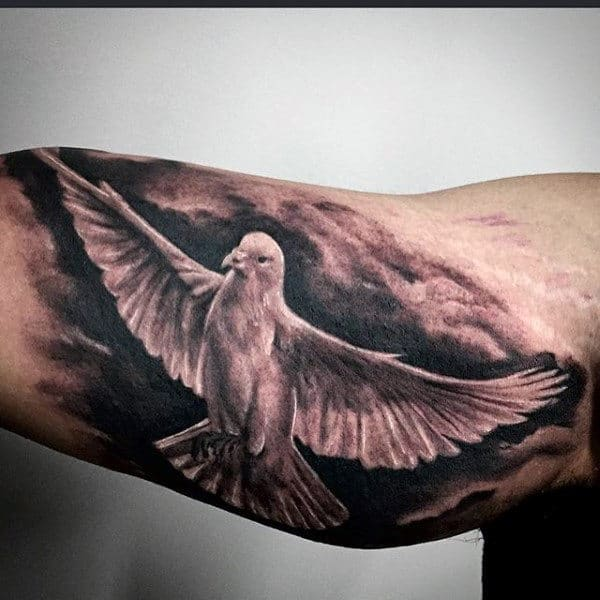 8e3429d80 50 Dove Tattoos For Men - Soaring Designs With Harmony