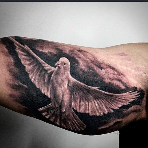 Bicep Tattoo Doves For Men