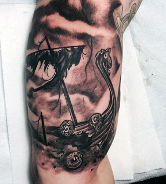 Bicep Traditional Viking Tattoos For Men