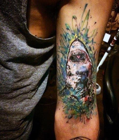 Shark Biceps Tattoo For Men