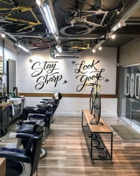 Bicycle Themed Barber Shop Designs