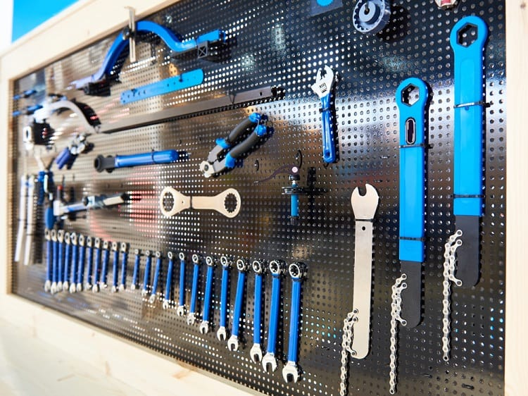 Bicycle Tools Garage Pegboard Ideas