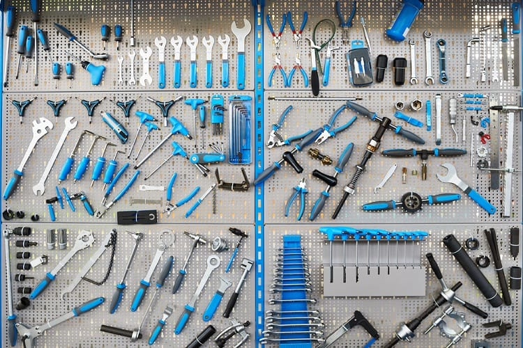 Bicycle Workshop Garage Pegboard Ideas