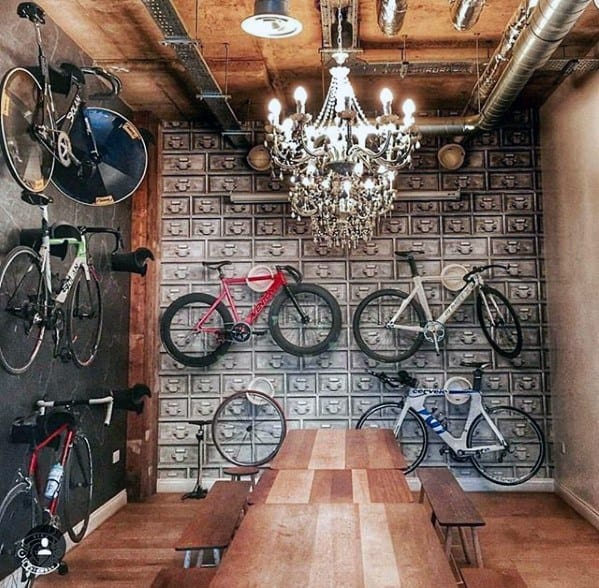 Bicycles With Steel Boxes Bachelor Pad Wall Art