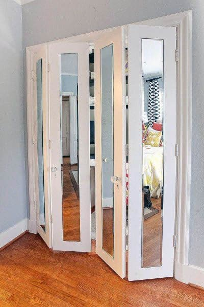 Bifold Mirror Closet Door Cool Design Ideas