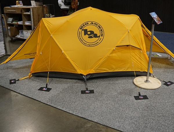 Big Agnes Yellow Outdoor Camping Tent