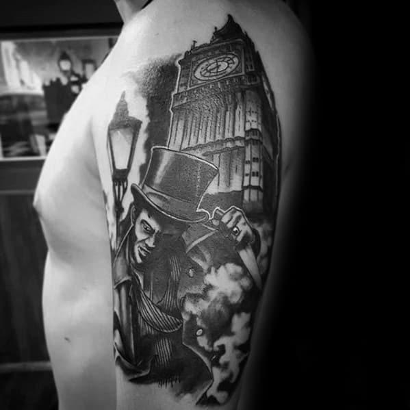 Big Ben Clock London Tattoo Design Ideas For Males Half Sleeve