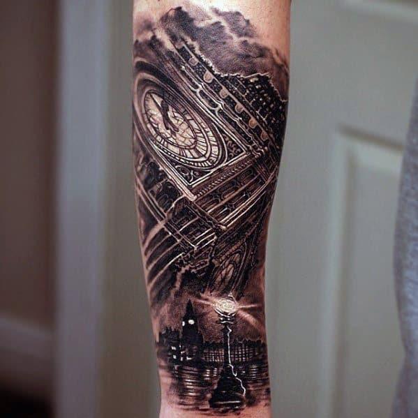 Big Ben Guys 3d Forearm Tattoos