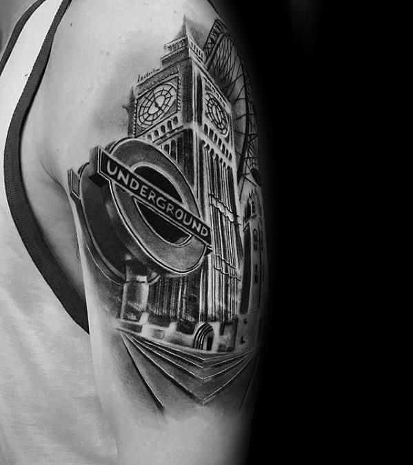 Big Ben Mens 3d Arm Tattoo Designs