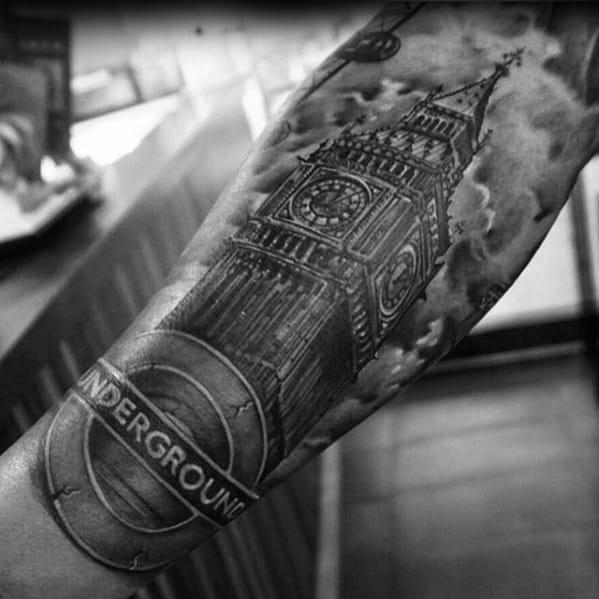 Big Ben Tattoo Ideas On Guys