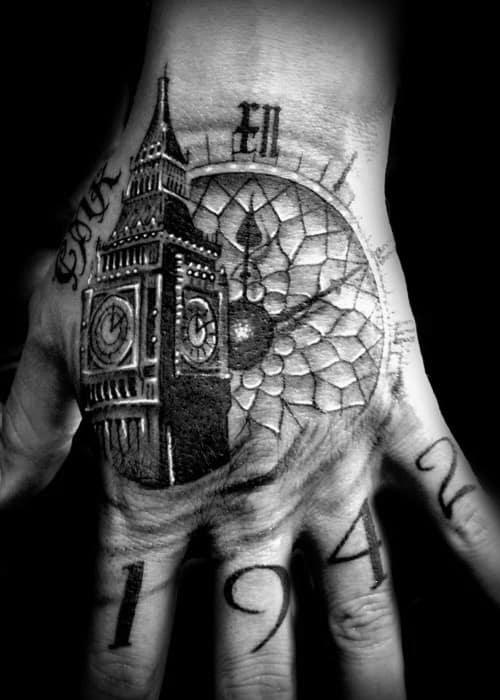 Big Ben Tattoos For Gentlemen
