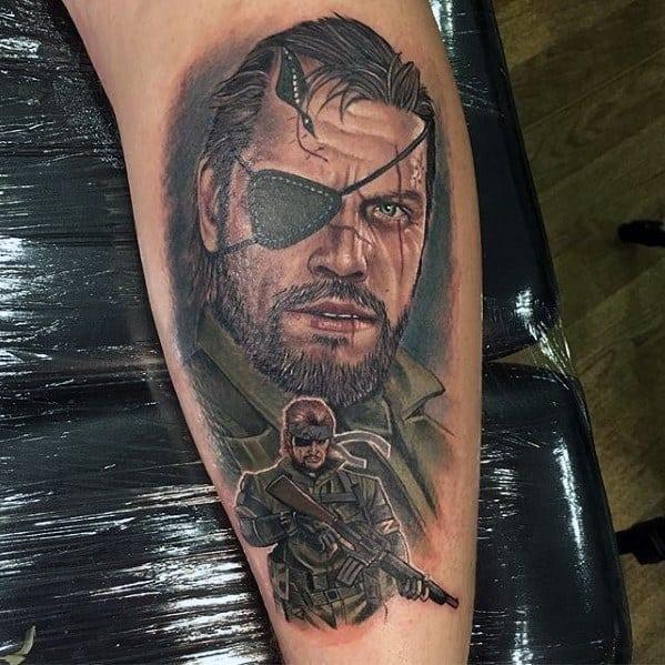 Big Boss Artistic Male Metal Gear Tattoo Ideas
