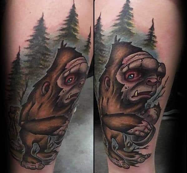 Bigfoot Tattoo Design Ideas For Males