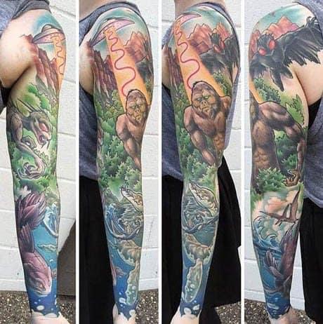Bigfoot Tattoo Ideas On Guys
