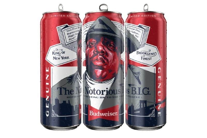 Budweiser Release Limited Edition Biggie Smalls Tall Boy