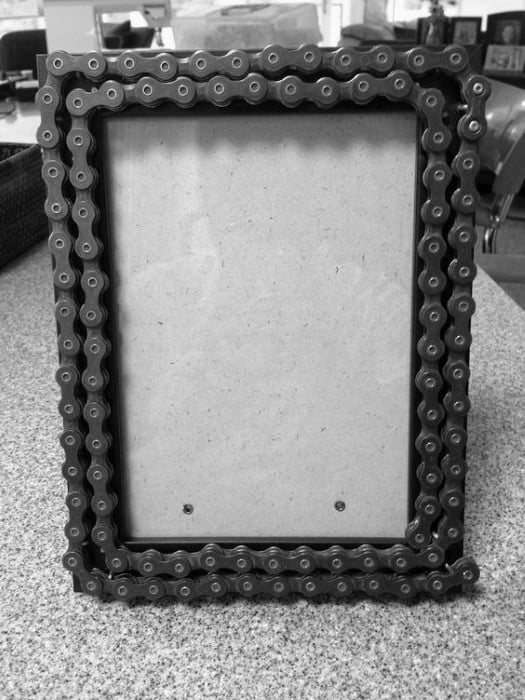 Bike Chain Picture Frame Guys Bachelor Pad Decor Ideas
