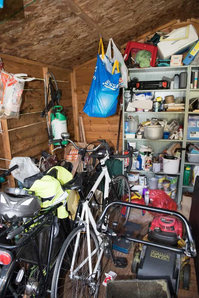 bike storage shed storage ideas