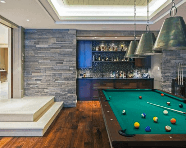 Billiard Pool Room Ideas With Small Luxury Bar