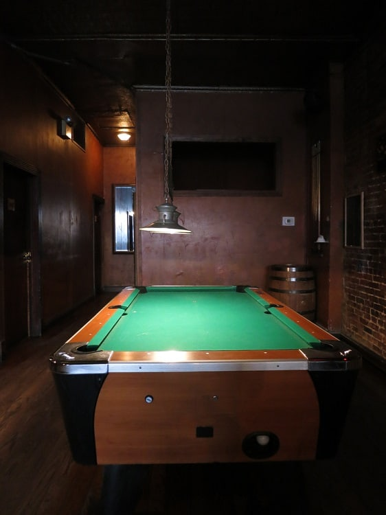 Billiard Table Unfinished Basement Ideas