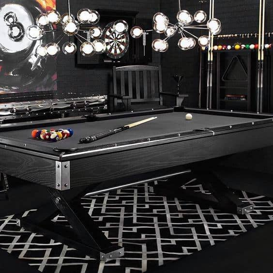 Billiards Room Black Decor Themed Ideas