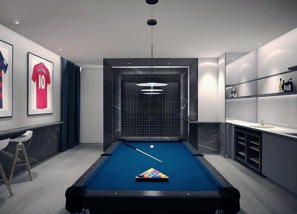 Billiards Room Design Idea Inspiration